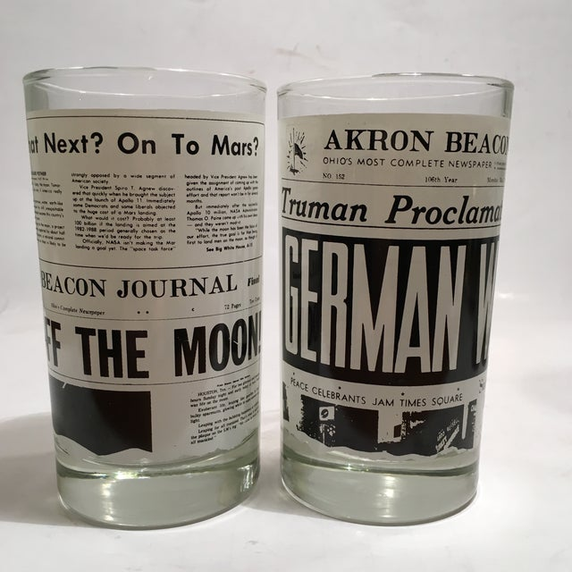 Libbey Newspaper Headline Tumblers - Set of 6 - Image 3 of 6