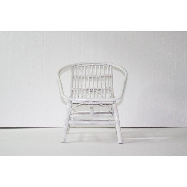 Laguna Rattan Arm Chair in White - Image 2 of 2