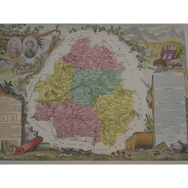 Antique Map Provinces of France Engraving - Image 3 of 3
