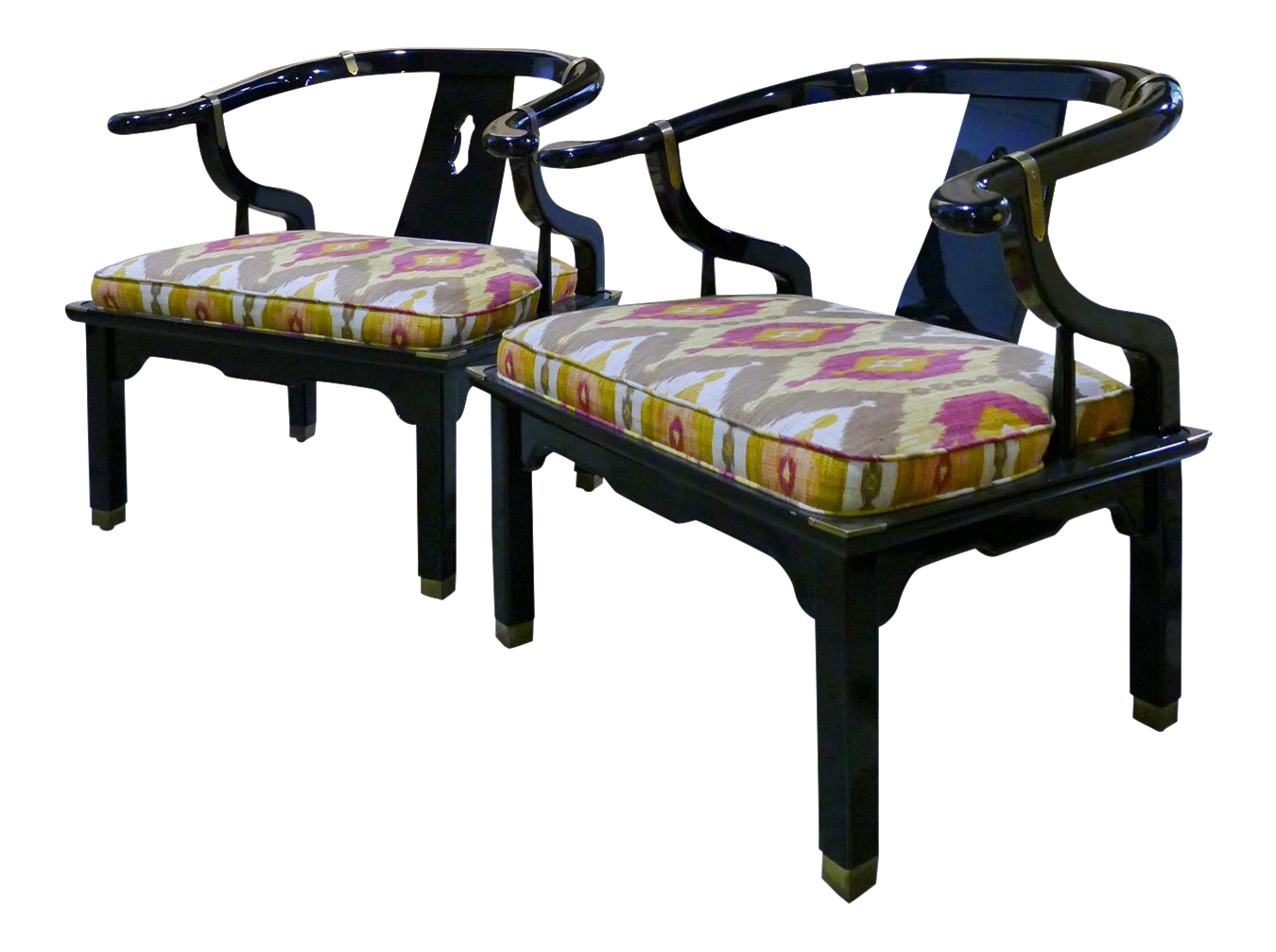 James Mont For Century Furniture Asian Style Chairs   A Pair