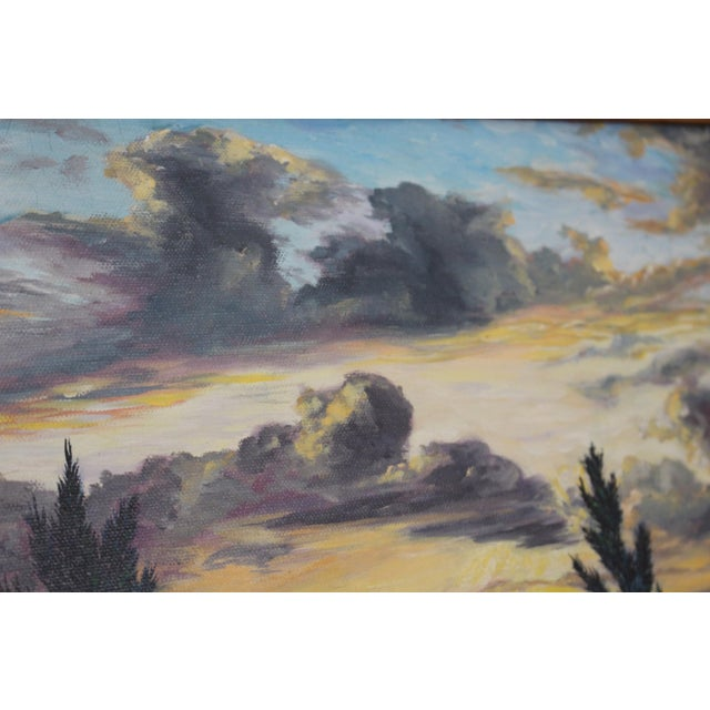 John De Ponce Hawaiian Sunset Landscape Painting - Image 8 of 11
