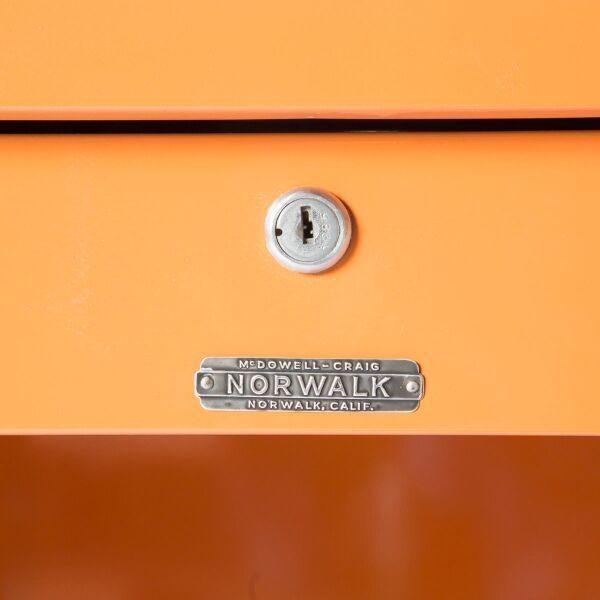 McDowell-Craig Vintage Tanker Orange Desk - Image 4 of 5