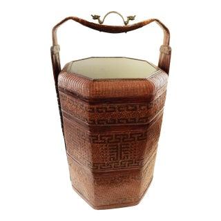 LG Antique Chinese Wedding Basket