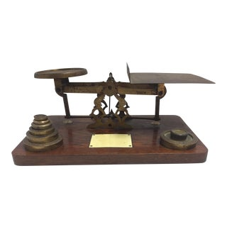 Antique Postage Scale With Weights
