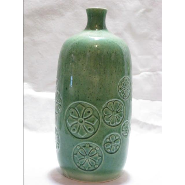 Vintage Keramikos Green Porcelain Vase - Image 4 of 9