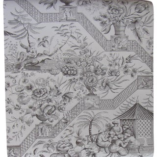 Schumacher Chinoiserie Toile Wallpaper Rolls - Set of 3