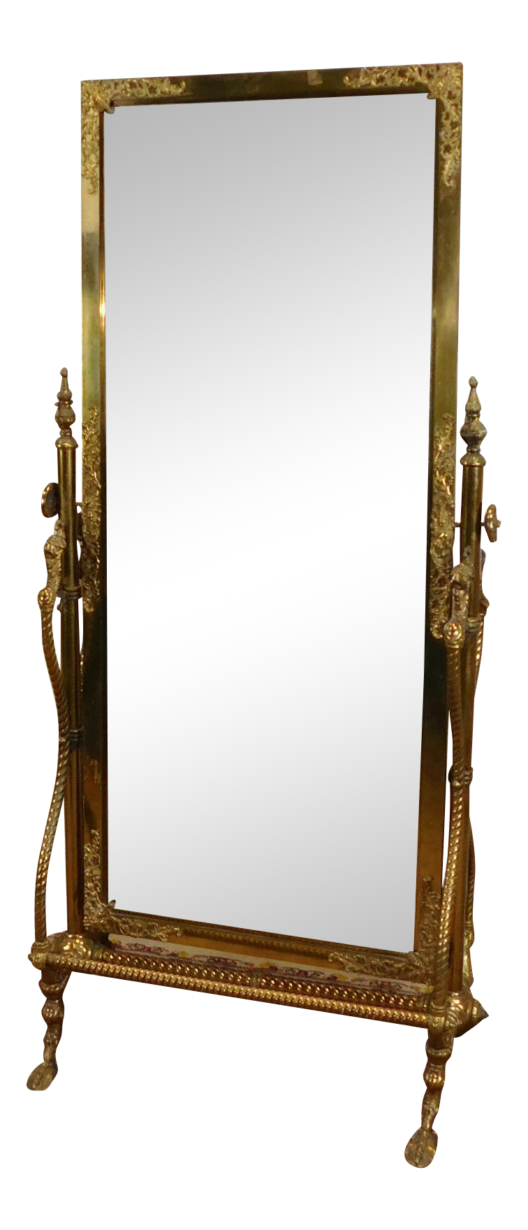 Image result for Fine Antique Victorian Brass Regency Style Cheval Mirror on Stand c1890