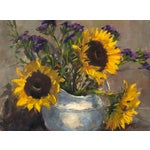 Image of Vase of Sunflowers Painting