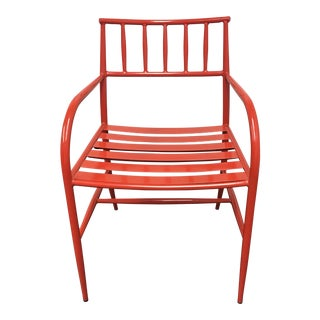 West Elm Spindle Red Chair