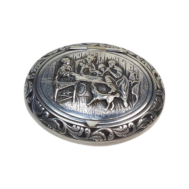 Image of Engraved Silverplate Handheld Ashtray
