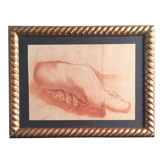 "French ""Red Chalk Foot"" Drawing"