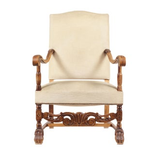 1920s English Baroque Style Armchair