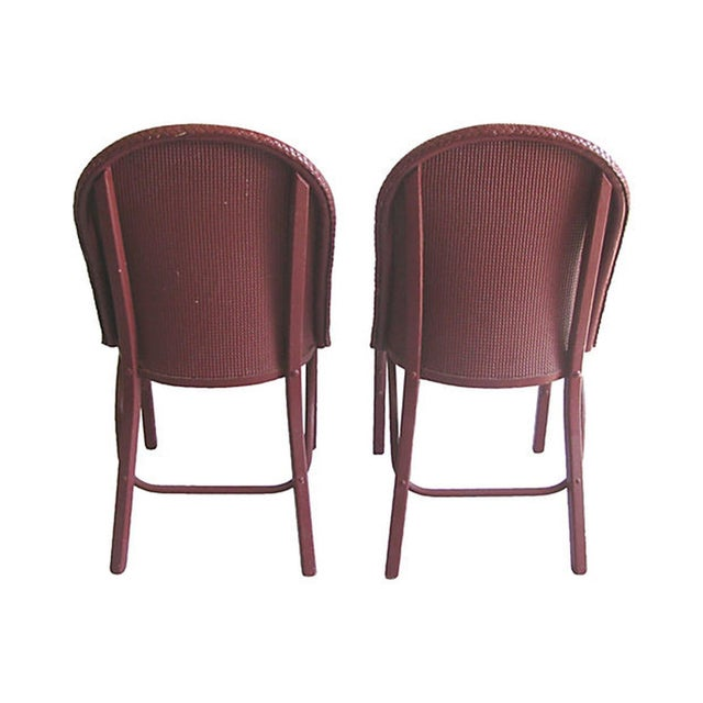 Lloyd Loom Wicker Bentwood Chairs - Set of 4 - Image 4 of 7