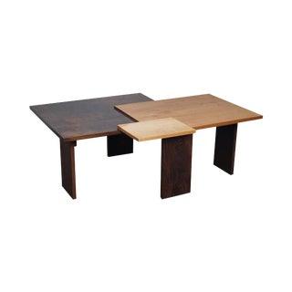 Jeffrey Greene Studio Mixed Wood Geometric Coffee Table