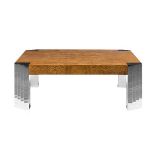Milo Baughman Burlwood Coffee Table