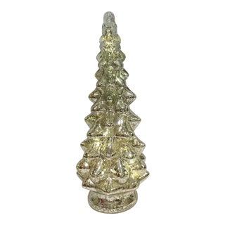 Medium Light-Up Mercury Glass Christmas Tree