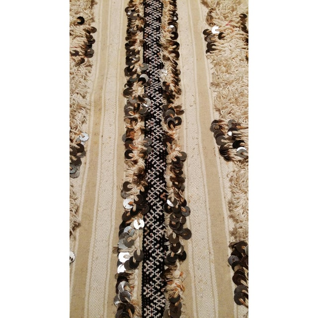 Moroccan Wedding Blanket Handira with Sequins - Image 3 of 6