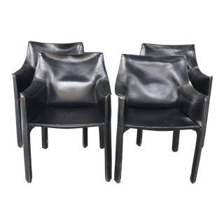 Mario Bellini Cassina Leather Cab Chairs - Set of 4