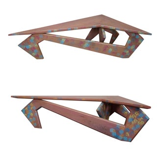 Studio Crafted Boomerang Painted Low Tables - Pair