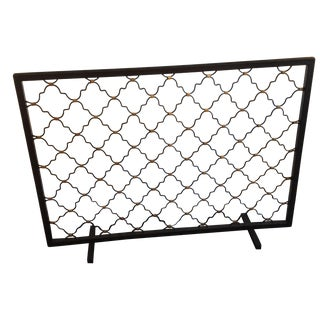 Patterned Fireplace Screen