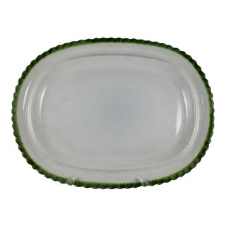 Staffordshire Leeds Green Feather Edge Large Platter
