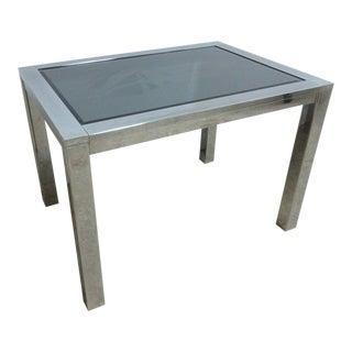 Vintage Mid-Century Chrome Parsons End Table