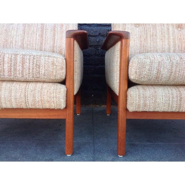 Mid-Century Danish Teak Danish Chairs - A Pair - Image 4 of 7