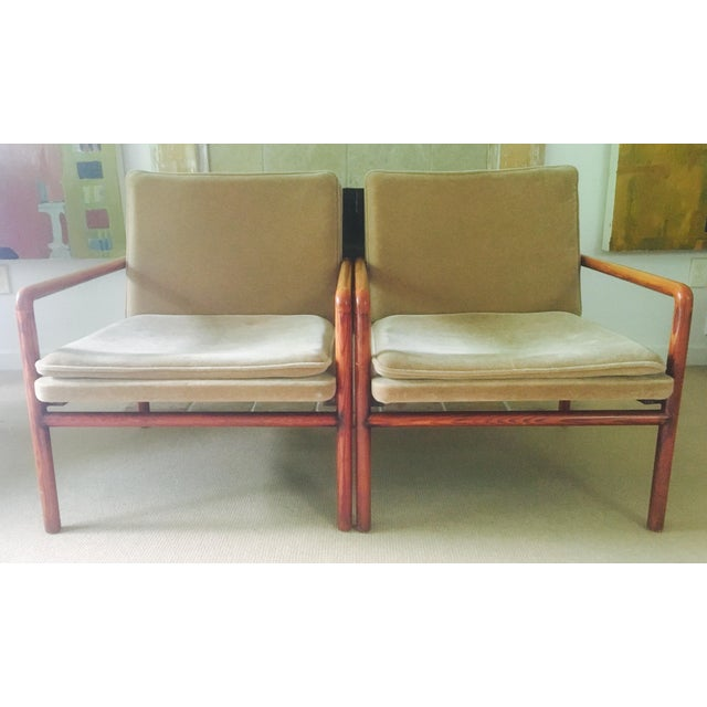 Mid Century Lounge Chairs - a Pair - Image 2 of 11