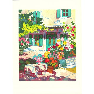 Guy Charon-Villa Afternoon-Lithograph-SIGNED