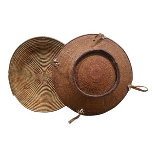 African Woven Baskets - A Pair
