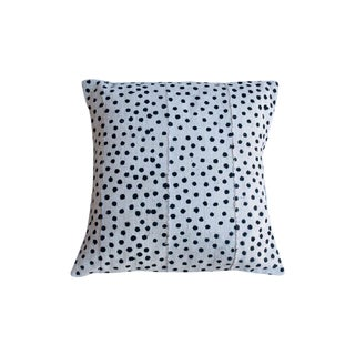 African Style Black Polka Dot Cushion