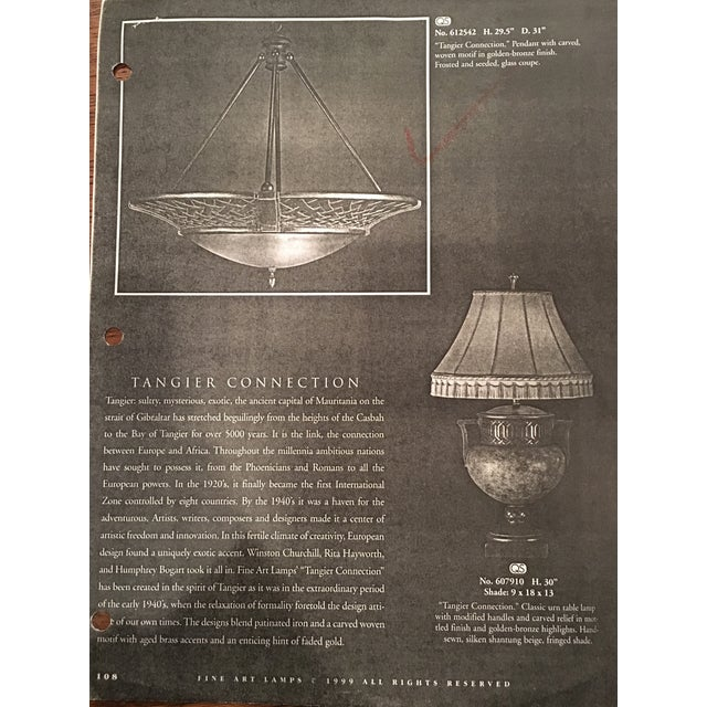 Image of Large Tangier Conection Golden Bronze Chandelier