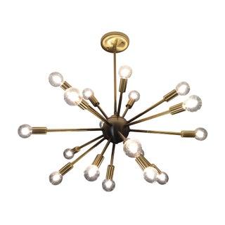 Sputnik 18-Arm Chandelier in Satin Brushed Brass
