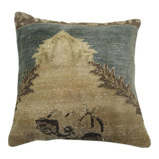 Turkish Green & Khaki Rug Pillow