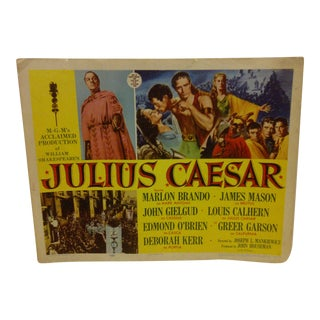 "Vintage Movie Poster ""Julius Caesar"" Marlon Brando - 1953"