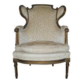 19th Century French Louis XVI Bergere Chair