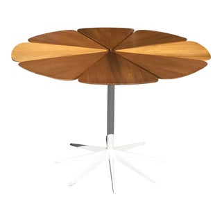 Vintage Richard Schultz for Knoll Redwood Petal Dining Table
