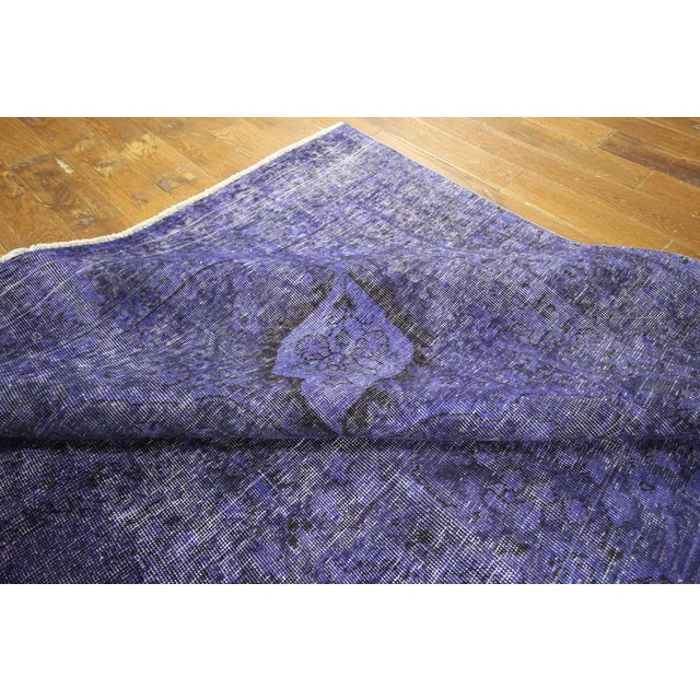 "Purple Overdyed Oriental Rug - 10' 1"" x 12' 1"" - Image 9 of 10"