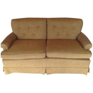 Mustard Tweed Love Seat