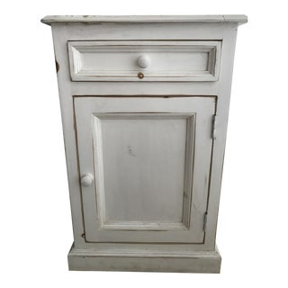 Rustic White Side Cabinet