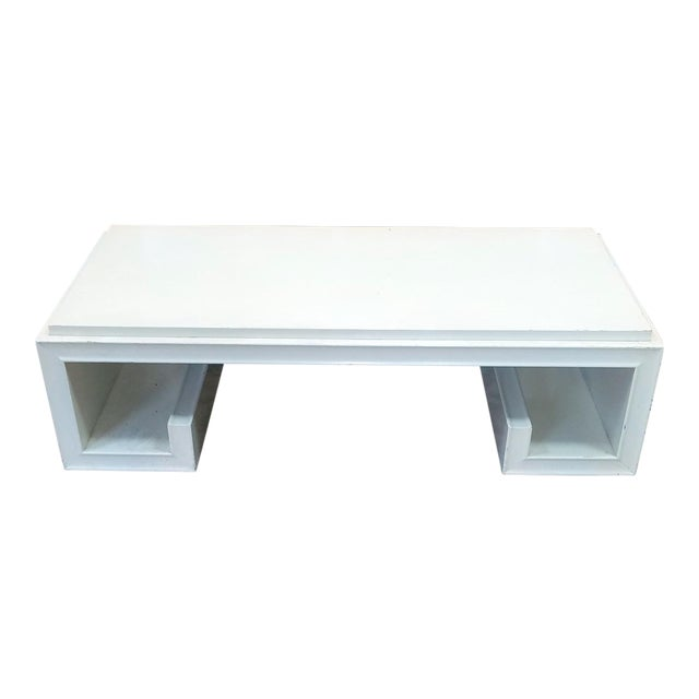1950s Vintage James Mont White Lacquered Greek Key Coffee Table Chairish