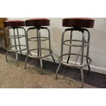 Image of Mid Century Modern Swivel Bar Stools - Set of 3