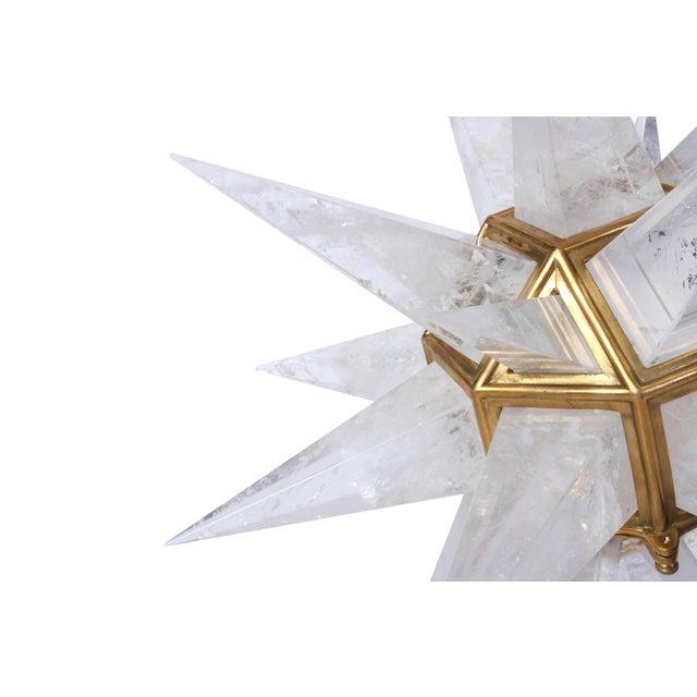 Quartz Star Pendant Light with Antique Brass Frame - Image 6 of 6