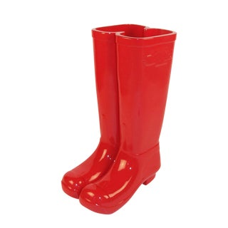 Red Les Bottes Umbrella Stand