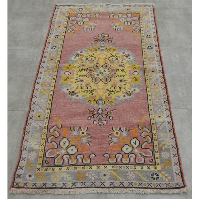 "Image of Vintage Pastel Turkish Oushak Rug - 2'11"" x 5'4"""