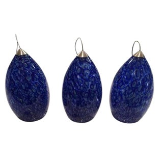 Firebird Peacock Blue Pendants - Set of 3