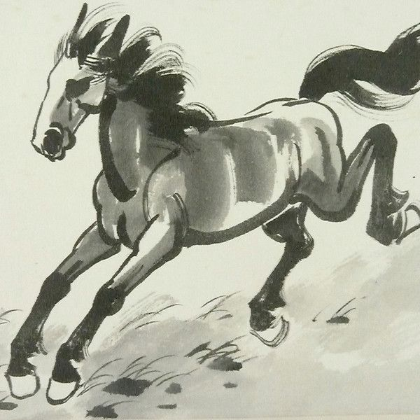 Japanese Watercolor Stallion - Image 2 of 3