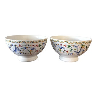 Gien France Toscana Coup Cereal Bowls - A Pair