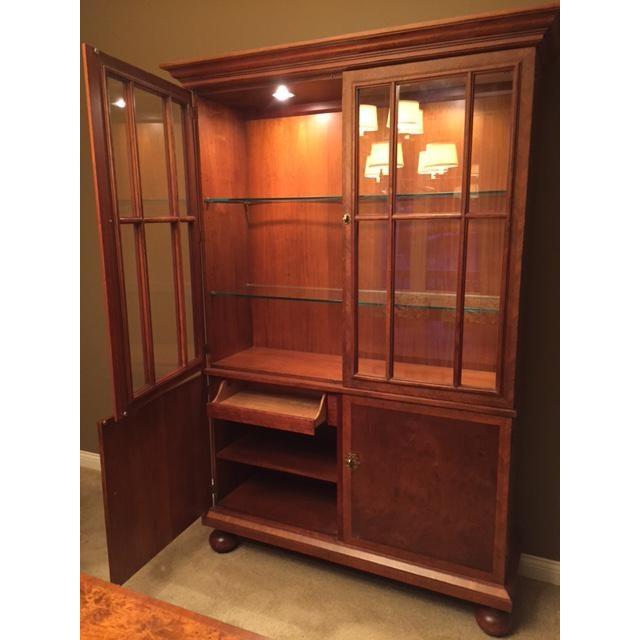 Baker Furniture Burl Wood China Cabinet - Image 4 of 4