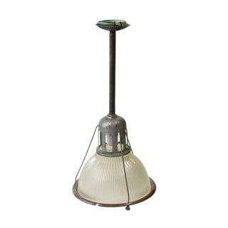 "12"" Industrial Holophane Factory Pendant Light"